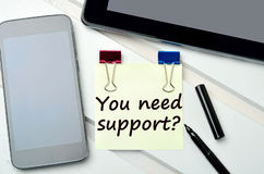 Question You need support on notes Royalty Free Stock Images