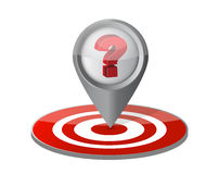 Question your target concept illustration. Design over white Royalty Free Stock Photography