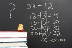 Questionando a matemática nova Imagens de Stock