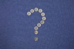 Questionando o euro Imagem de Stock