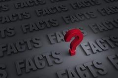 Questionando os fatos Imagem de Stock Royalty Free