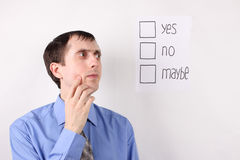 Questioned the decision Royalty Free Stock Images