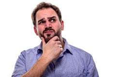 Questioning expression Royalty Free Stock Images