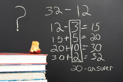 Questioning the new math. Stock Images