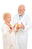 Questioning the Pharmacist Royalty Free Stock Image