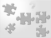 Questioning Puzzels Stock Images