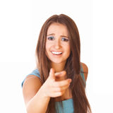 Questioningly woman Stock Image