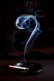 Questionmark del fumo e di Cig Immagine Stock Libera da Diritti