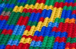 Questionmark des briques de jouet Photos libres de droits
