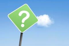 Questionmark en muestra Imágenes de archivo libres de regalías