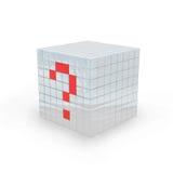 questionmark för kub 3d Royaltyfria Foton