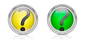 Questionmark Ikone Lizenzfreies Stockfoto