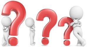Questionmark rojo. Imagenes de archivo
