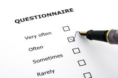 Questionnaire Stock Photos