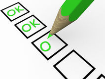 The questionnaire. This is 3d illustration Royalty Free Stock Images