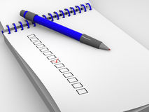 The questionnaire Royalty Free Stock Images