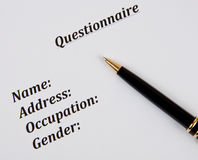 Questionnaire Stock Images