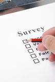 Questionnaire Stock Photography