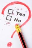 Questionnaire Photo libre de droits