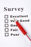 Questionnaire Stock Photo
