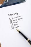 Questionnaire. And pen, business concept Stock Image