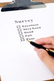Questionnaire. And pen, business concept Royalty Free Stock Photo