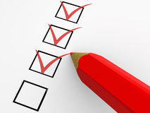 The questionnaire Stock Images