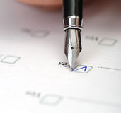 Questionnaire Stock Image