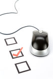 Questionnaire and computer mouse Royalty Free Stock Photos