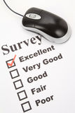 Questionnaire and computer mouse Stock Photos