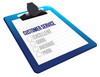 Questionnaire of customer service feedback icons. Illustration design over a white background Stock Photography