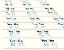 Questionnaire empty list, isolated Stock Photos