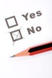 Questionnaire et crayon lecteur Image stock