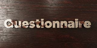 Questionnaire - grungy wooden headline on Maple  - 3D rendered royalty free stock image Royalty Free Stock Image