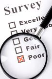 Questionnaire and magnifier Royalty Free Stock Photo