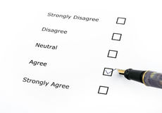 Questionnaire options Stock Image