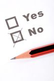 Questionnaire and pen Stock Image