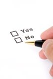 Questionnaire and pen Royalty Free Stock Photo