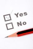 Questionnaire and pencil Royalty Free Stock Images