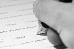 Questionnaire survey D Royalty Free Stock Photos