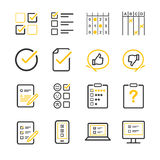 Questionnaire and Survey icons. Flat Design Illustration: Questionnaire and Survey icons Stock Image