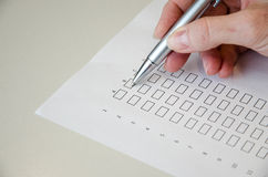 Questionnaire Royalty Free Stock Photos