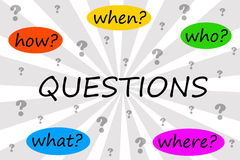 Questions royalty free illustration