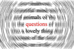 Questions Photographie stock libre de droits