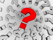 Questions. 3d Very beautiful three-dimensional illustration, figure Stock Photography