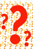 Questions all around. Lots of questions waiting for an answer Stock Illustration