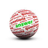 Questions and answer Stock Photo