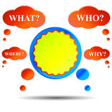 Questions and answer Royalty Free Stock Images