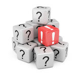 Questions and answer cubes Stock Image