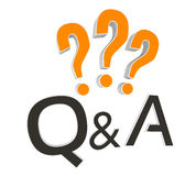 Questions and Answers Royalty Free Stock Image